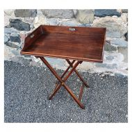 Georgian Butlers Tray With Original Stand