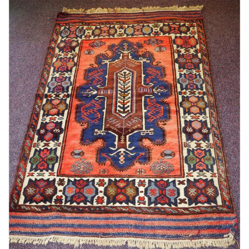 Gorgeous Vintage Tajikistan Tribal Wool Rug