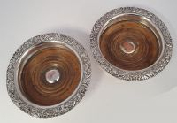 Good Pair Victorian Silver Plated Coasters