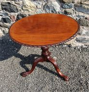 Chippendale Carved Bird-cage Tripod Table