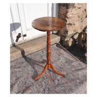 Rare American Tiger Maple Candle Stand
