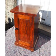 Victorian Mahogany Tapered Bedside Cabinet