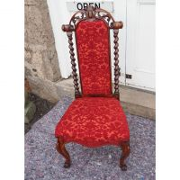 Early Victorian Rosewood Nursing Chair