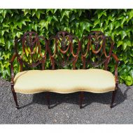 19th Century Hepplewhite Style Chiar Back Settee