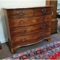 Georgian Scottish Mahogany Serpentine Chest