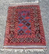 Small Afghan Tribal Prayer Rug