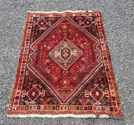Traditional Persian Qashqai Wool Rug